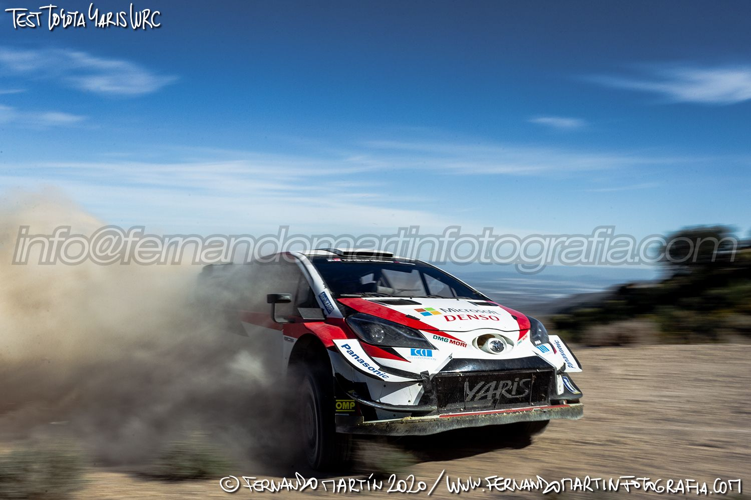 Test Toyota Yaris WRC 2020